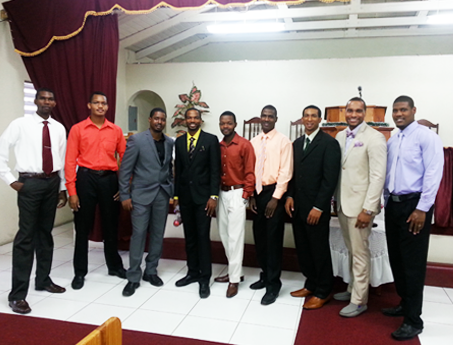 Some of the young men pose for a photo on Christmas Morning 2013
